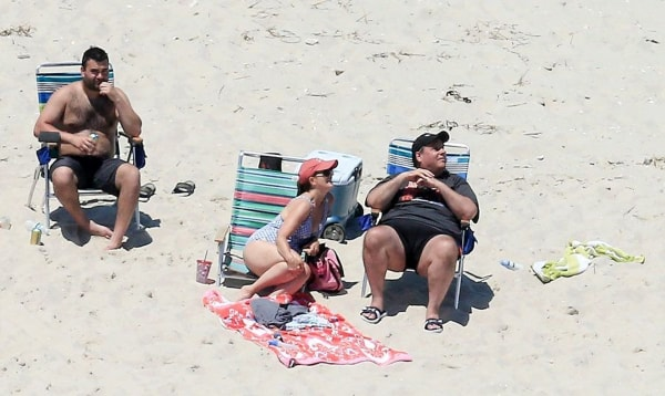Image: New Jersey Governor Chris Christie enjoys the beach with his family over the Fourth of July weekend.