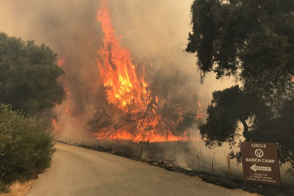 Image: Whittier Fire in Santa Barbara County, California
