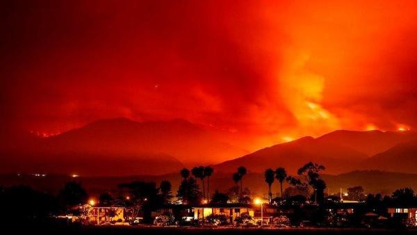 Image: Whittier wildfire near Santa Ynez, California
