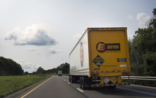 Image: An Estes Express Lines truck