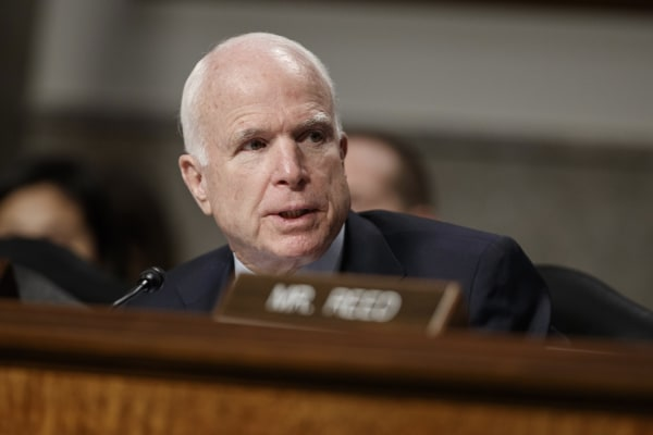 Image: Senate Armed Services Committee Chairman Sen. John McCain, R-Ariz. speaks on Capitol Hill in Washington, D.C., on Jan. 5, 2017.