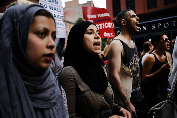 Image: Protesters Rally Against Trump's Travel Ban In New York's Union Square