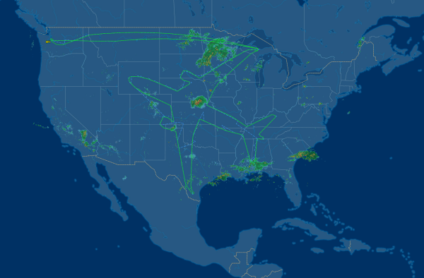 Image: Boeing 787-8 test flight path