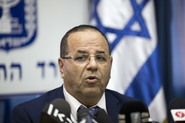 Image: Israel's Communications Minister Ayoob Kara speaks during a press conference in Jerusalem, Aug. 6, 2017.