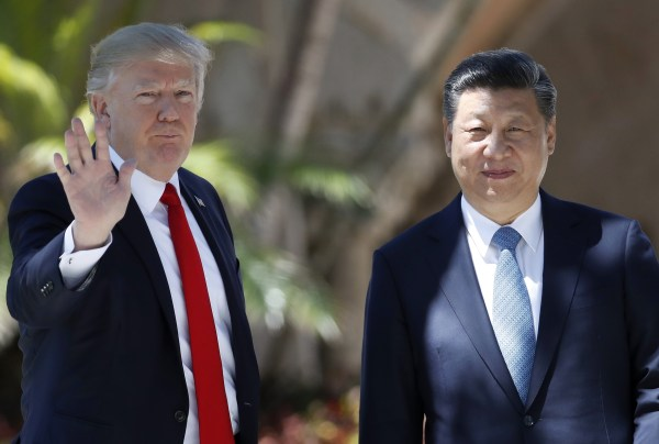 Image: Trump and China President Xi Jinping