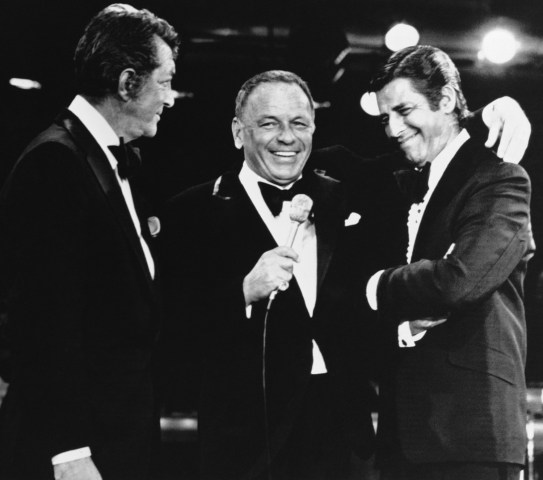 Image: Frank Sinatra with Jerry Lewis and Dean Martin
