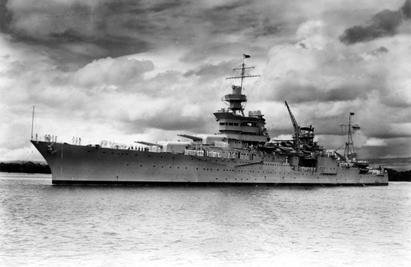 Image: The USS Indianapolis in Pearl Harbor in 1937.