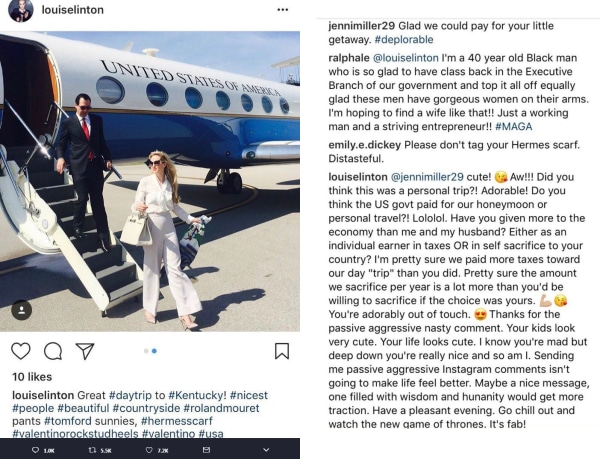 Image: Louise Linton's Instagram