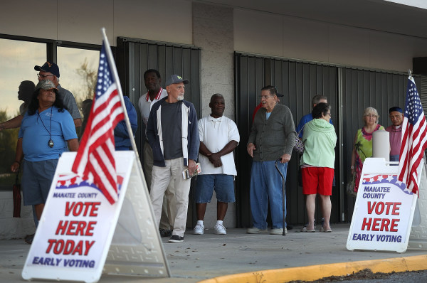 Image: Early Voting Begins In Florida