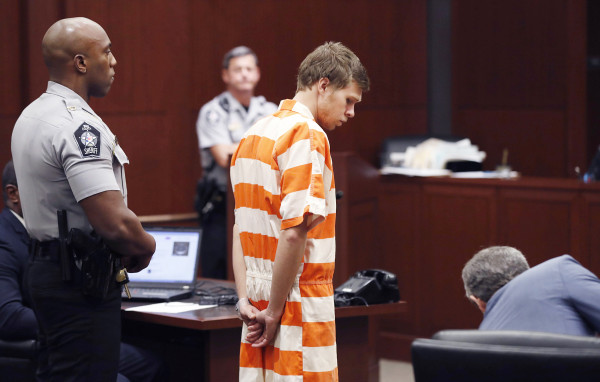 Image: Matthew Phelps stands in the courtroom during his first appearance