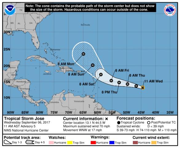 Image: Tropical Storm Jose