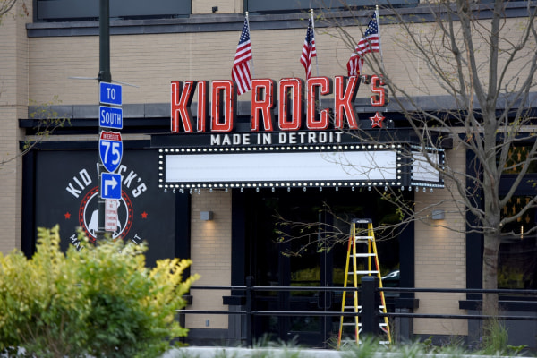 Image: Kid Rock Marquee in Detroit