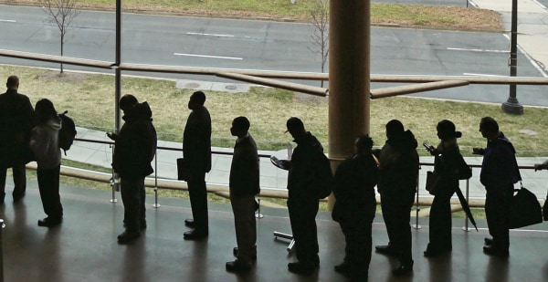 Image: Employment Seekers Attend Job Fair In Washington DC