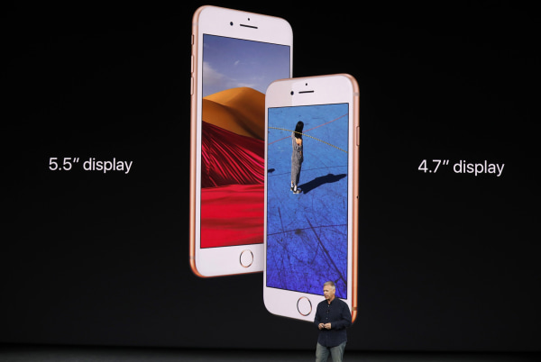 Image: Apple's Schiller introduces the iPhone 8 during a launch event in Cupertino