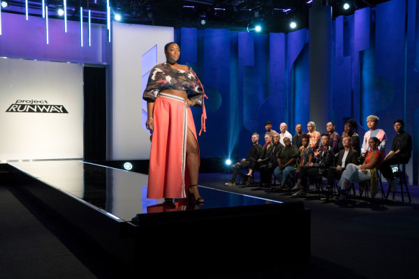 "Image: Liris Crosse on ""Project Runway"""