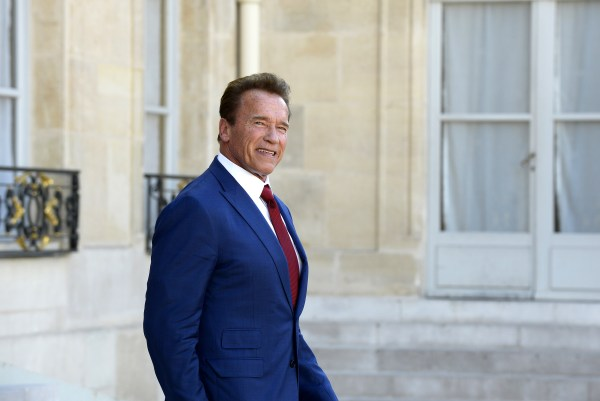 Image: Arnold Schwarzenegger At Elysee Palace