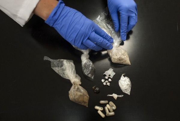 Image: Heroin samples at Ohio Attorney General's headquarters