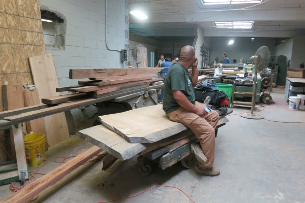 How to recover your business after disaster? Robert Rising of NY Slab. New furniture and lumber warehouse in Yonkers, N.Y.