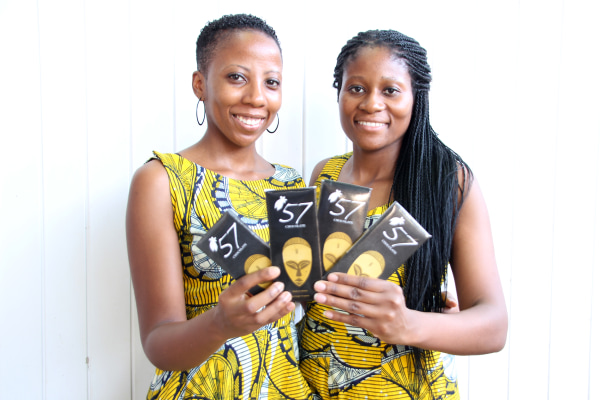 Image: Sisters and Co-founders of 57 Chocolate