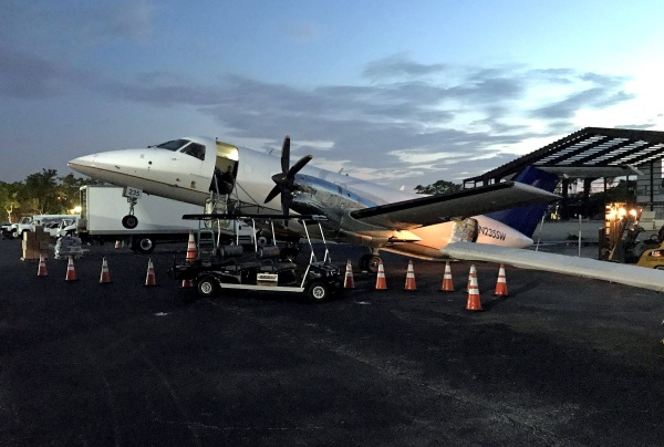 Image: Nonprofit Wings of Rescue plane tips backward, scraping its tail on the asphalt in Fort Lauderdale
