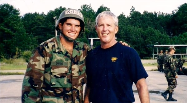 Image: Ryan Owens, left, with his father Bill Owens.