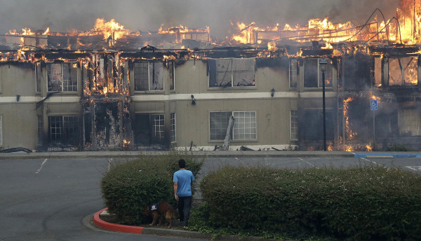 Image: Fire at Hilton Sonoma Wine Country hotel
