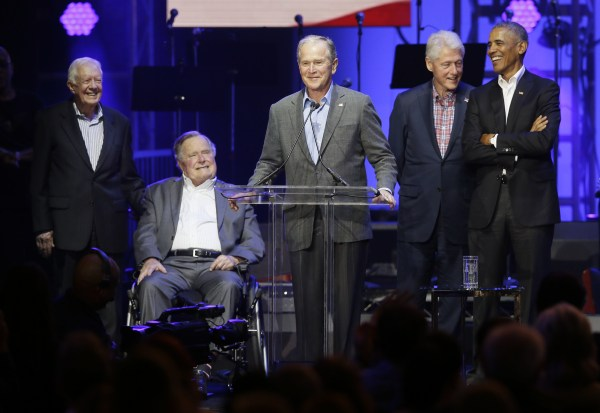 Image: Barack Obama, George Bush, George W. Bush, Jimmy Carter, Bill Clinton
