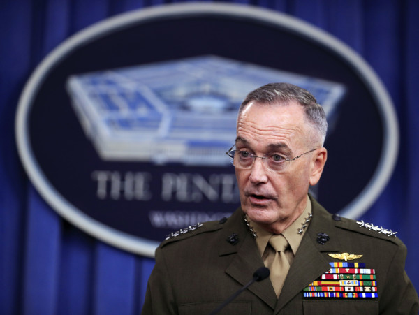 General Dunford briefs reporters about Niger ambush