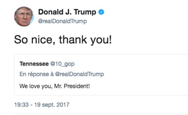 Trump tweet to @10_GOP