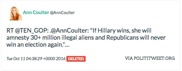 Ann Coulter retweet Russian troll