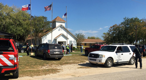 Image: Texas church shooting scene