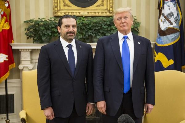 Image: President Trump Hosts Lebanese Prime Minister Saad Hariri At The White House