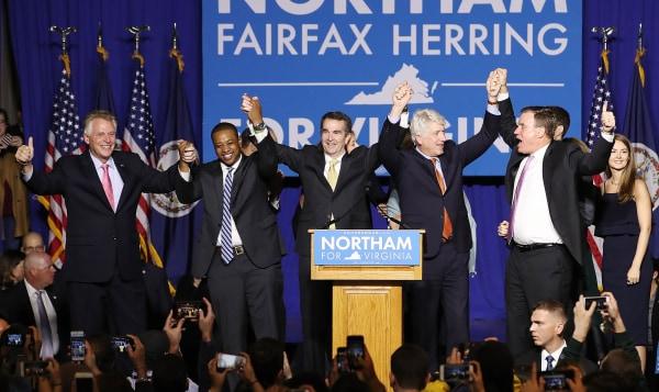 Image: Virginia Gubernatorial Candidate Ralph Northam Holds Election Night Gathering In Fairfax, Virginia