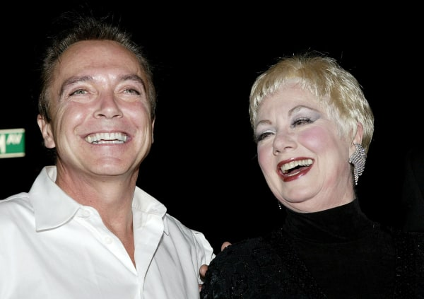 Image: David Cassidy and Shirley Jones arrive at the 49th annual Drama Desk Awards in New York