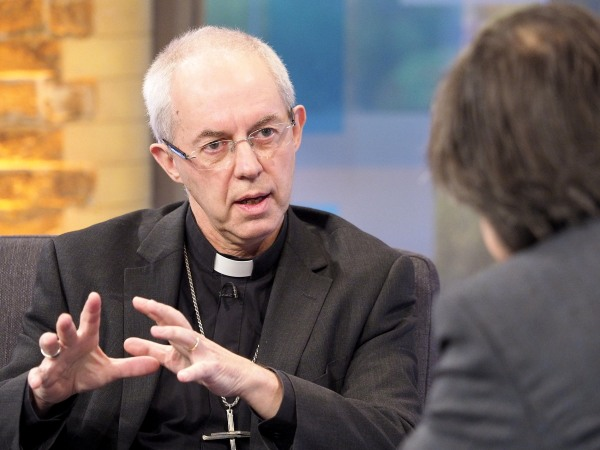 Image: Archbishop of Canterbury Justin Welby 'Peston On Sunday' in London, on Nov. 26, 2017.