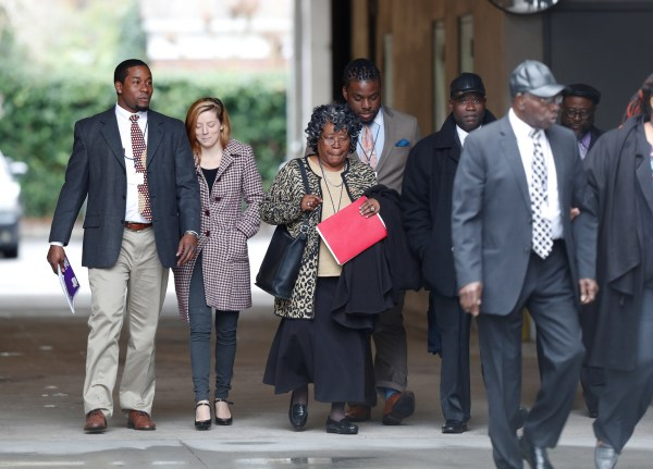 Image: The family of Walter Scott arrives at the Charleston federal court house building for the 4th day of testimony during the sentencing hearing for former North Charleston police officer Slager in Charleston
