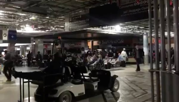 Image: The Atlanta's airport is pictured during the power outage, in Atlanta