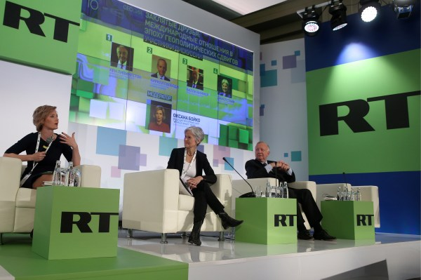 Russia Today conference on politics and mass media