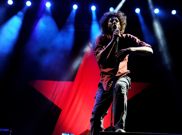 Image: Zack de la Rocha of Rage Against the Machine