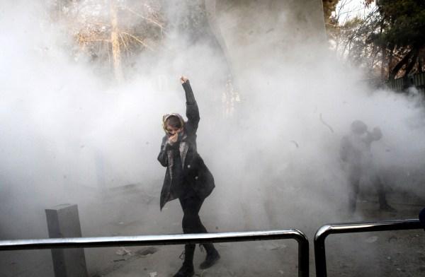 Image: Anti-government protest in Iran
