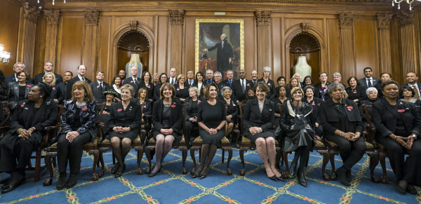 Image: Lawmakers wear black to State of the Union for #MeToo