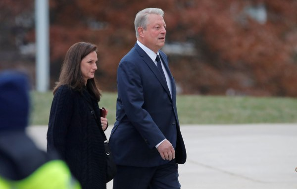 Image: Former Vice President Al Gore arrives for funeral of former U.S. President George H.W. Bush at Washington National Cathedral
