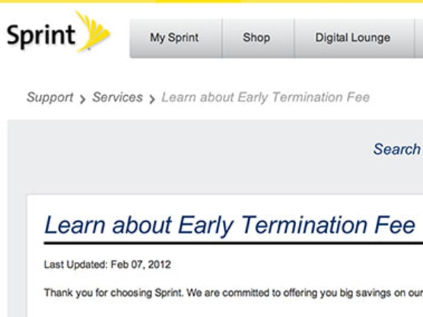 Sprint ETF page