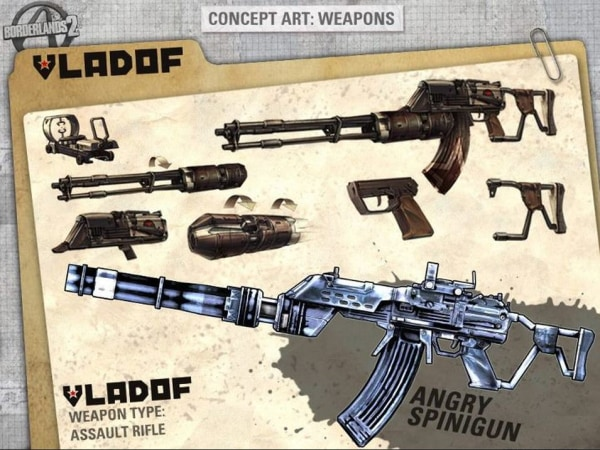 Borderlands 2 guns