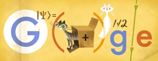 Google honored Erwin Schrödinger's 126th birthday today with an homage to his famous thought experiment, Schrödinger's Cat.