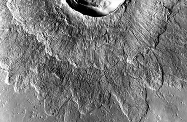 These craters may have formed when meteors smashed directly into -- and through -- ice sheets that were many meters thick.