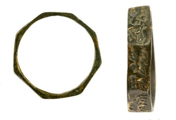 Bronze rings that were uncovered in the excavation at Apollonia.