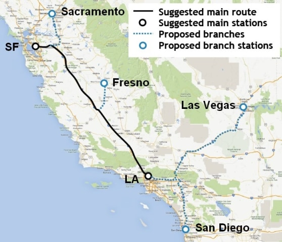 Image: Hyperloop map