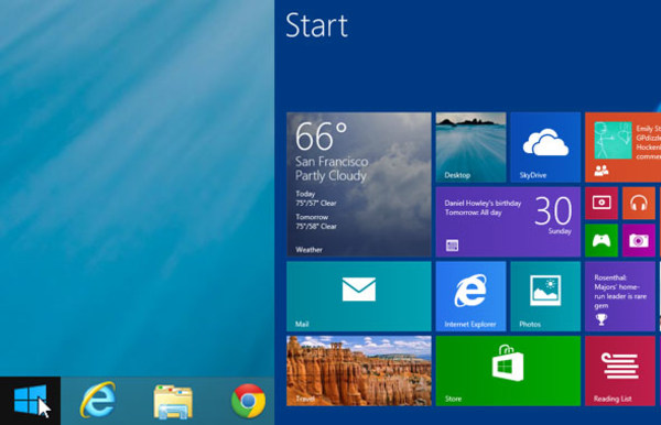 Windows 8.1 Desktop and Home screen