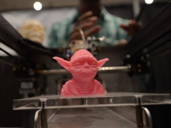 """TO GO WITH STORY BY JONATHAN FOWLER                                   A sample object, printed with a 3D printer, is displayed during the """"Inside 3D Printing"""" conference and exhibiti..."""